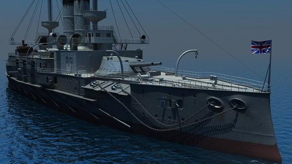 ocean battleship 3d model