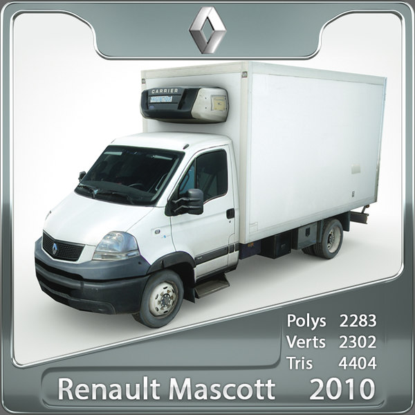 3ds max renault mascott 2010 refrigerator