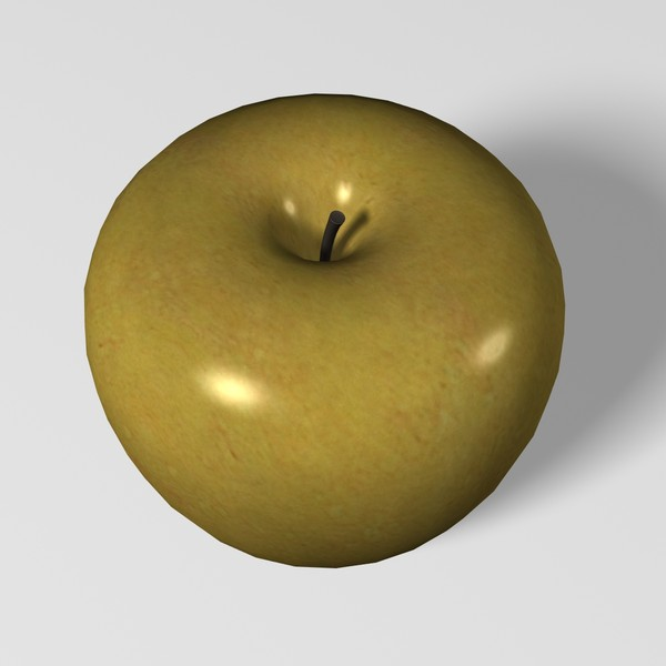 apple 3d model - Golden Delicious Apple... by mostlysquare