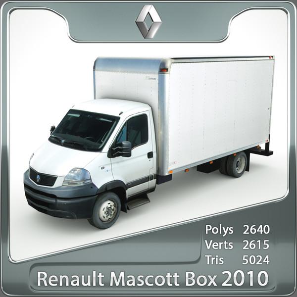 renault mascott 2010 cargo 3d obj