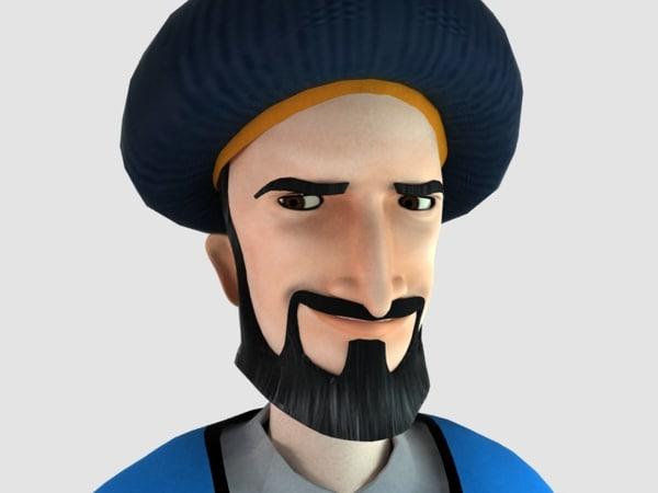 3d man arab