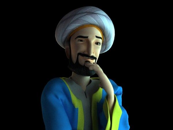 3d model man arab