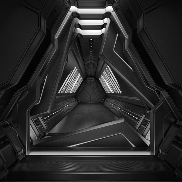 3ds max sci fi tunnel - Sci Fi Tunnel... by NRG_3D