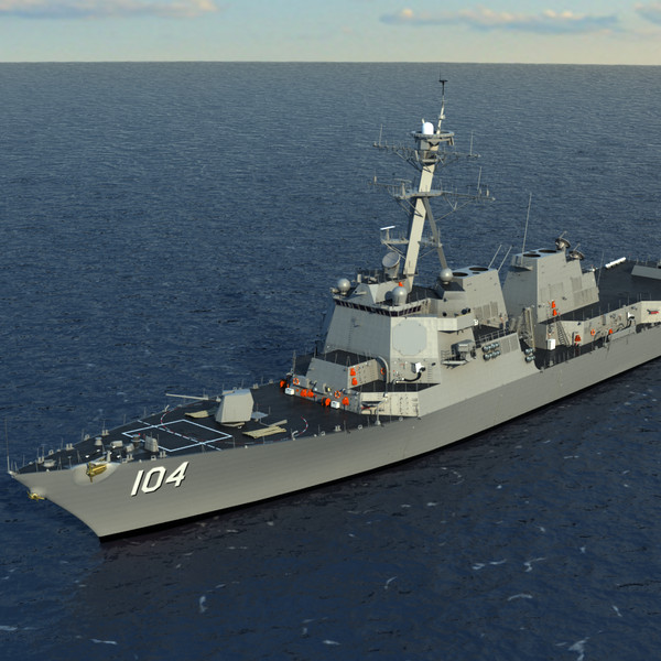 3d model uss sterett ddg-104 arleigh - US Navy  PCU STERETT (DDG-104) Arleigh Burke Class Destroy... by Camelot Inc
