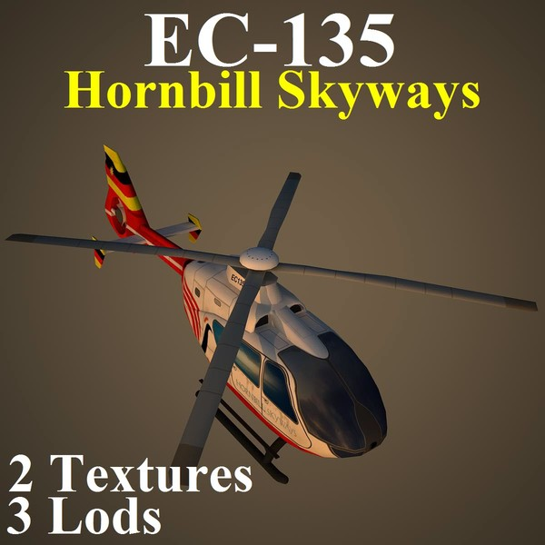 3d eurocopter hbs model