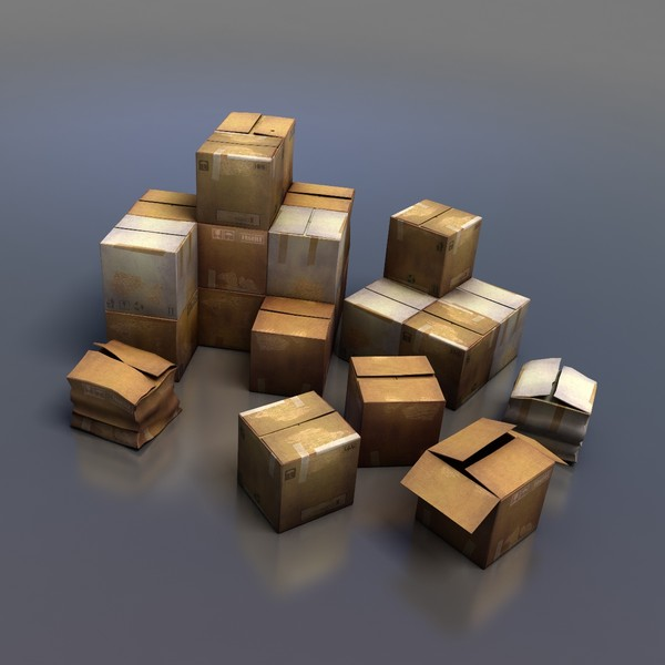 3d cardboard box model - Cardboard Boxes... by comodos