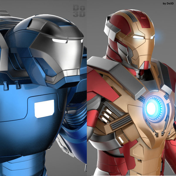 Iron Man 3 Suits - Mark 17 Heartbreaker Armor & Mark 38 Igor Armor