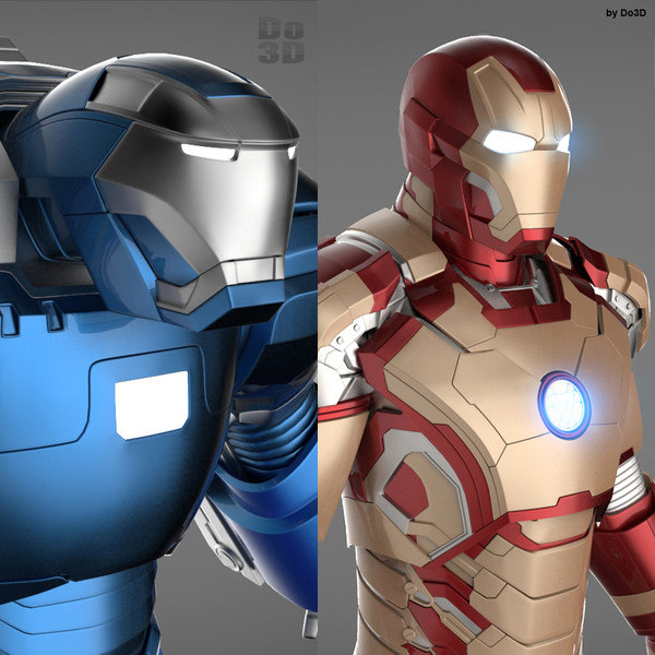 mark 42 38 armors 3d model