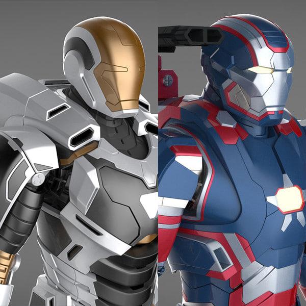 mark 39 gemini armor 3d max