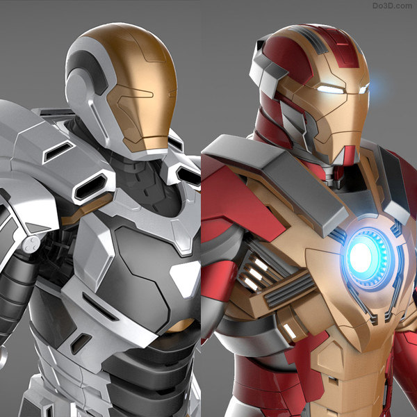 3d model of mark 17 heartbreaker armor