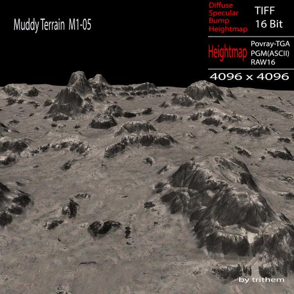 muddy terrain 3d max