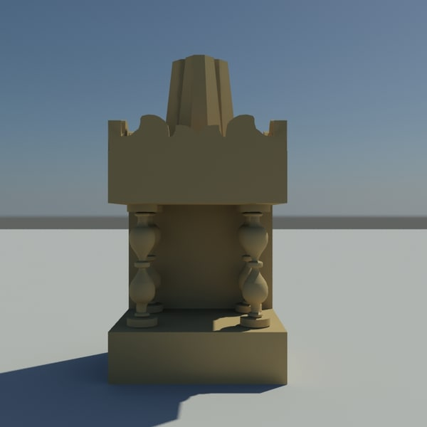 3d god temple house model