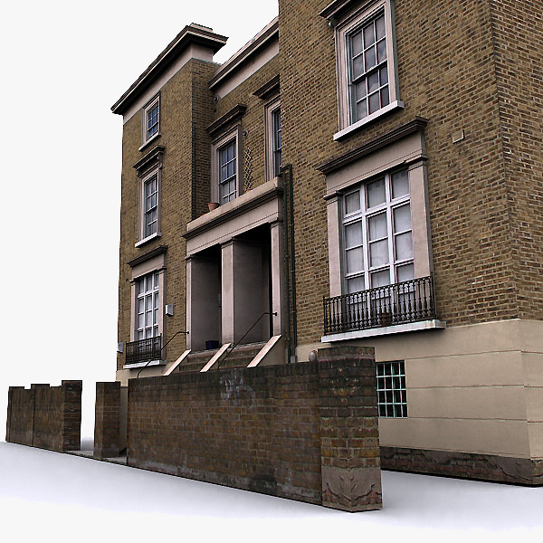 Photorealistic English House 004