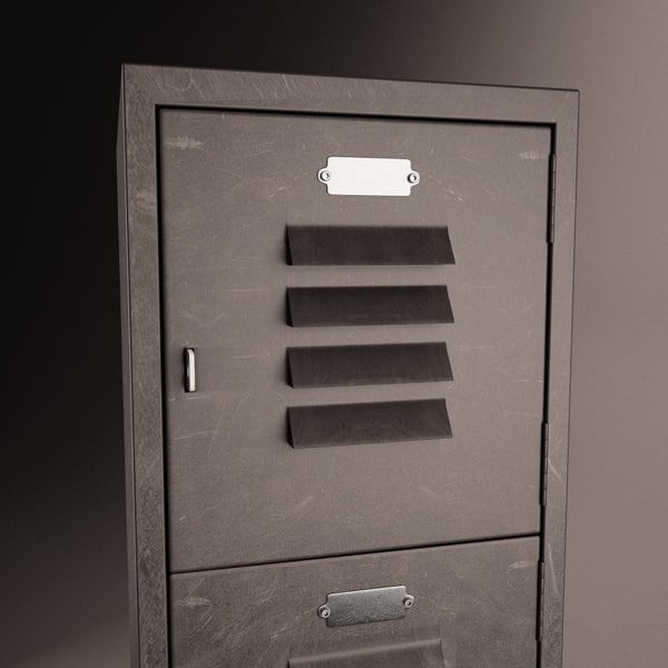 3d vintage gym locker