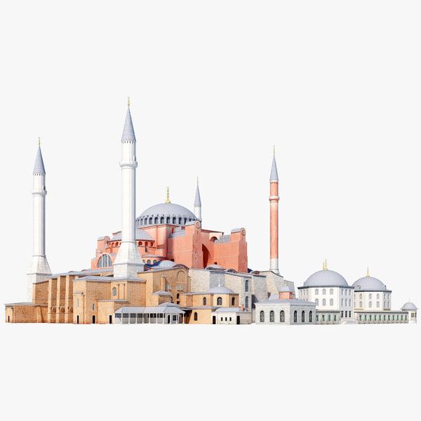 3ds hagia sophia istanbul