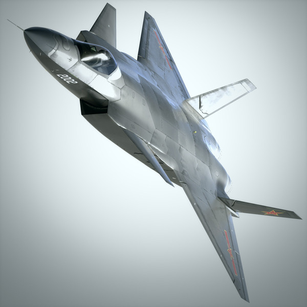 3d chengdu j-20 - J-20 Lite... by AviaKinetic