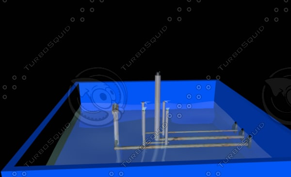 free fountain animation 3d model