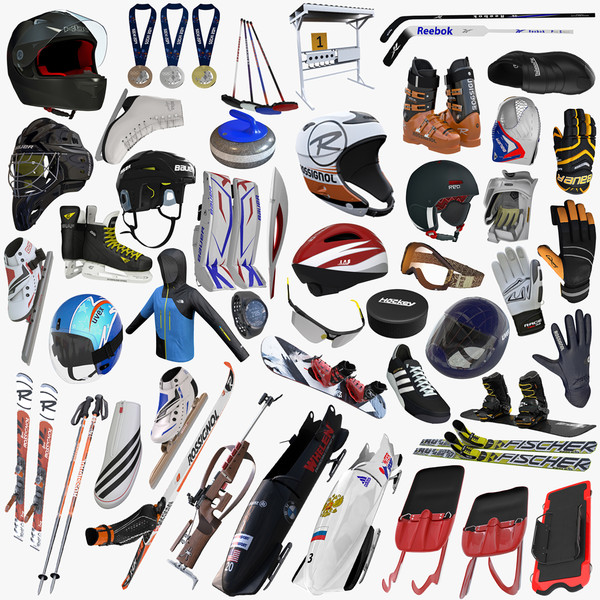 Winter Olympic Sports Equipment Collection