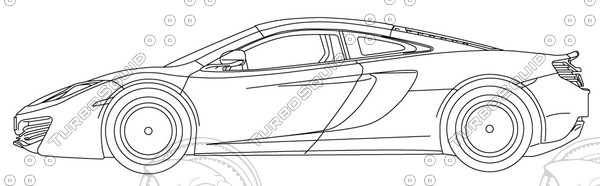 McLaren MP4-12C Vector Blueprint