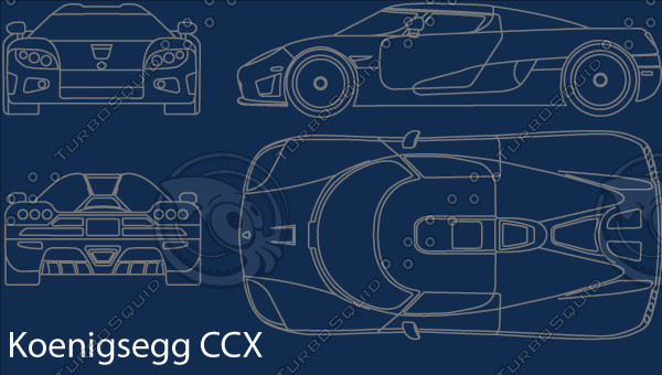 Koenigsegg CCX Vector Blueprint