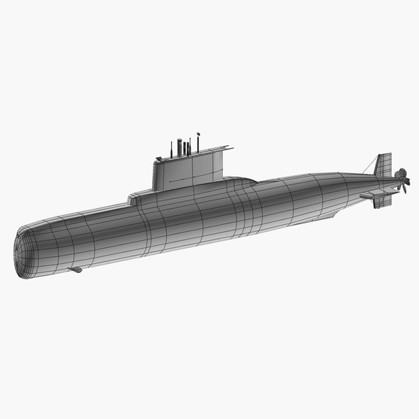3ds german type 209 1200 - Type 209 class 1200 submarine... by FangioDesign