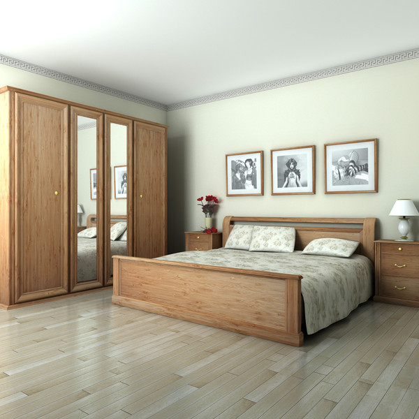 3d bedroom render - Bedroom