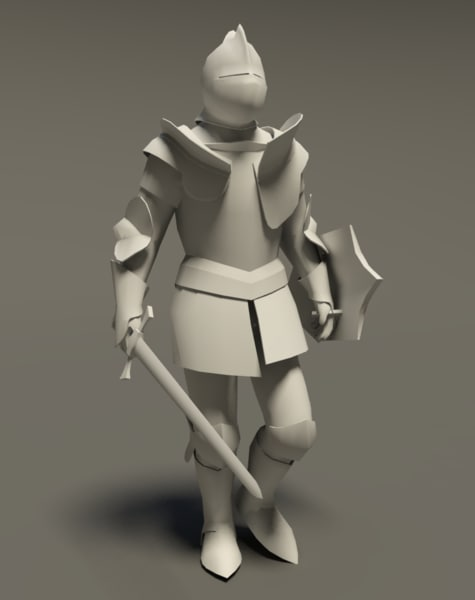 3ds max medieval knight rigged cat