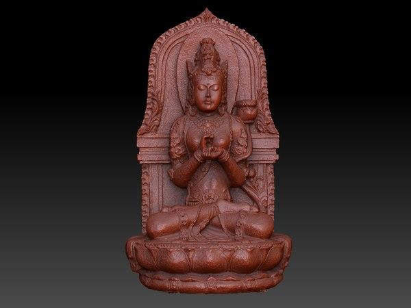 buddha statue obj