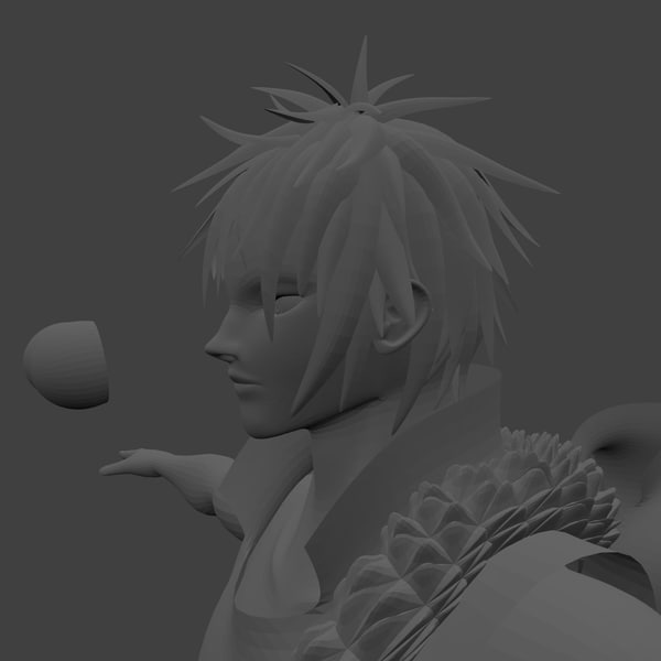 3d model concept male anime
