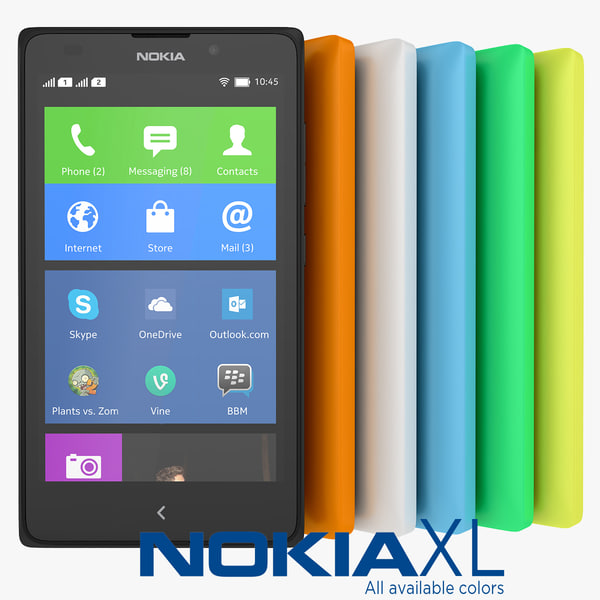 nokia xl smartphone colors 3d model
