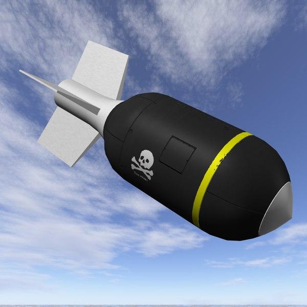bomb jolly roger scheme 3d obj