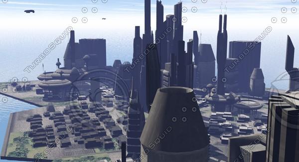 3ds max sci fi city