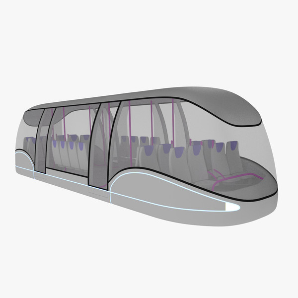 futuristic passenger transporter 3d 3ds - Passenger transporter... by Mr.Smooth