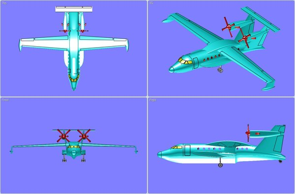 Beriev 112 Aircraft Solid Assembly Model