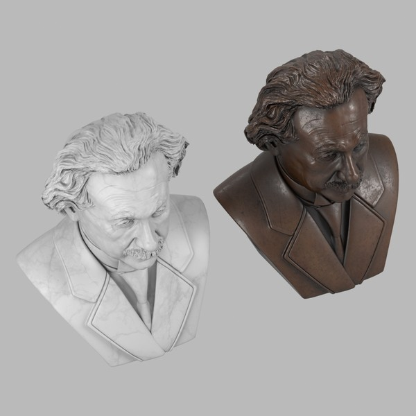 3d model of decorative bust albert einstein - Einstein Bust... by clay master