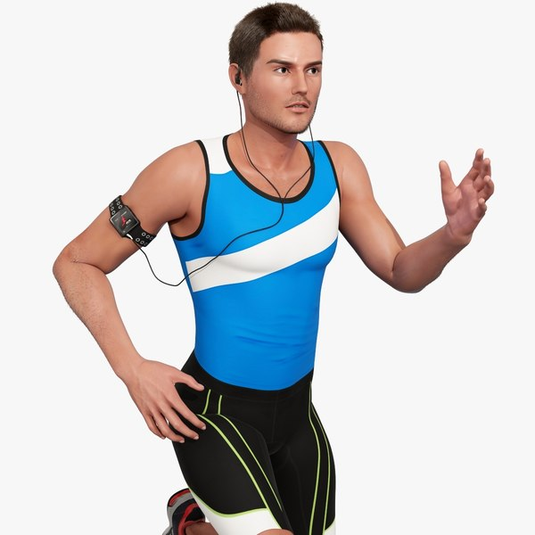3d model male athlete