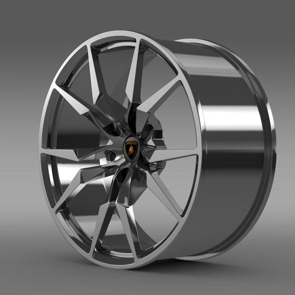 lamborghini aventador roadster 3d obj