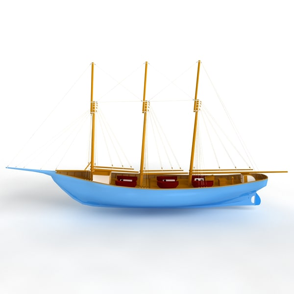 3d boat fishing model