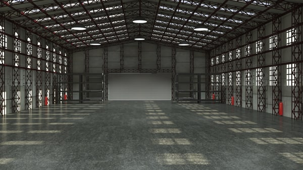 storage warehouse interior 3d model