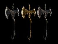 battle axe 3d max
