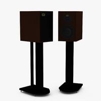 speaker warfedale denton 80th 3d model