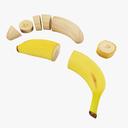 banana 3D models