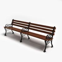 3d street bench