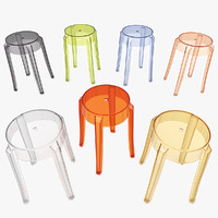 3d model charles ghost stool 4897