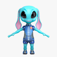 3d max alien cartoon
