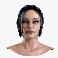 3d model human head 1