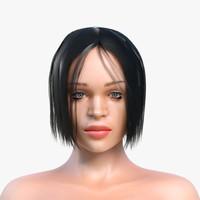 woman girl human 3d max