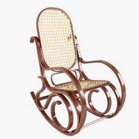 rocking chair wood 3d model