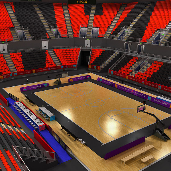 Basketball Arena Interior and Exterior