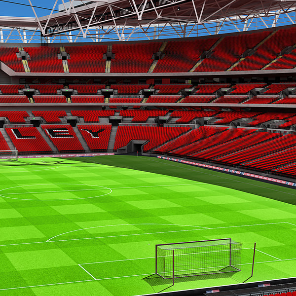 3d model wembley stadium